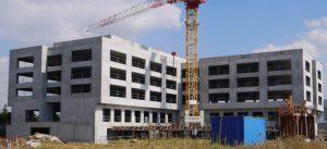 Photographie de chantier du programme de bureaux Carré Haussmann (Août 2016)