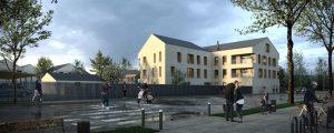 Modélisation du programme de logements miscanthus à Chanteloup-en-Brie