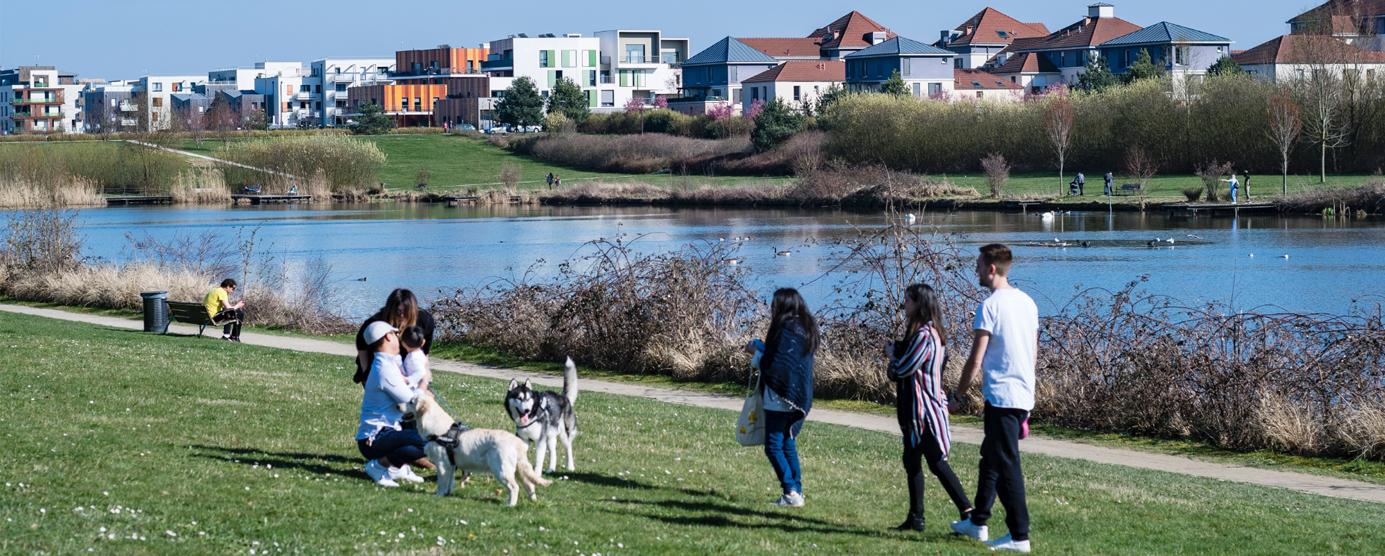 Le Parc du Génitoy dans le centre ville de Bussy Saint-Georges