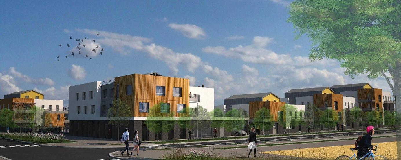 Premier permis BIM : programme de 109 logements Emmaüs Habitat (lot SY7) dans l'écoquartier Le Sycomore