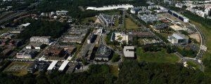 Photographie aérienne de la Cité Descartes, à Champs-sur-Marne (Septembre 2016)