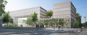 Modélisation du futur immeuble de bureaux Fifteen à la Cité Descartes