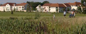 Photographie de logements donnant sur le Parc du Bicheret à Chessy