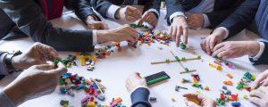 Table de travail : séminaire les LEGOS EPAMARNE/EPAFRANCE (siège social à Noisiel)