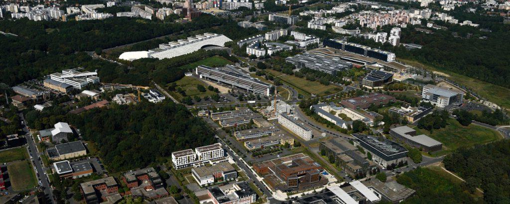 Vue aérienne d'une partie de la Cité Descartes