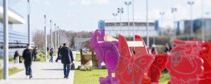 Exposition plein air itinérante Arche de Noe Climat sur le mail Descartes, à la Cité Descartes