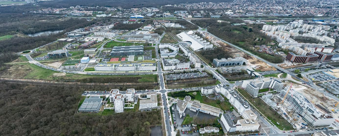 Vue aérienne de La Cité Descartes à Champs-sur-Marne
