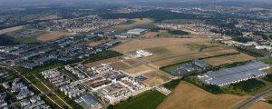 Vue aérienne de l'écoquartier de Montévrain - Val d'Europe en septembre 2016