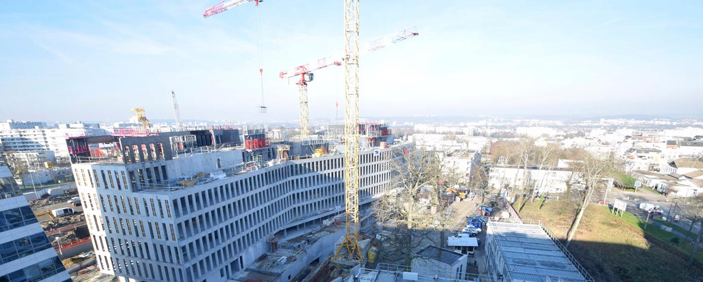 Le nouveau siège de la CASDEN, groupe Banque Populaire à la Cité Descartes
