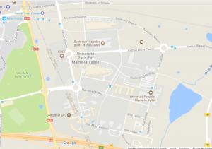 Venir à la Cité Descartes de Champs-sur-Marne