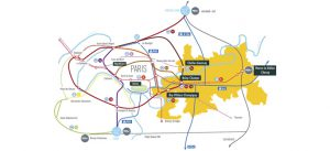 Accessibité : carte des transports à Marne-la-Vallée