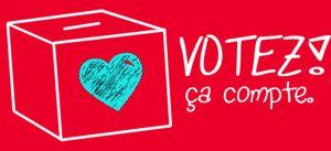 Dessin d'un urne blanche sur fond rouge afin de lancer le vote du projet Fimbacte (Descartes 21)