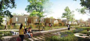 Modélisation de quelques logements dans l'écoquartier Le Sycomore, à Bussy Saint-Georges
