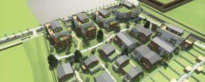 Modélisation du futur programme de logement Emmaüs (lot SY57) dans l'écoquartier Le Sycomore