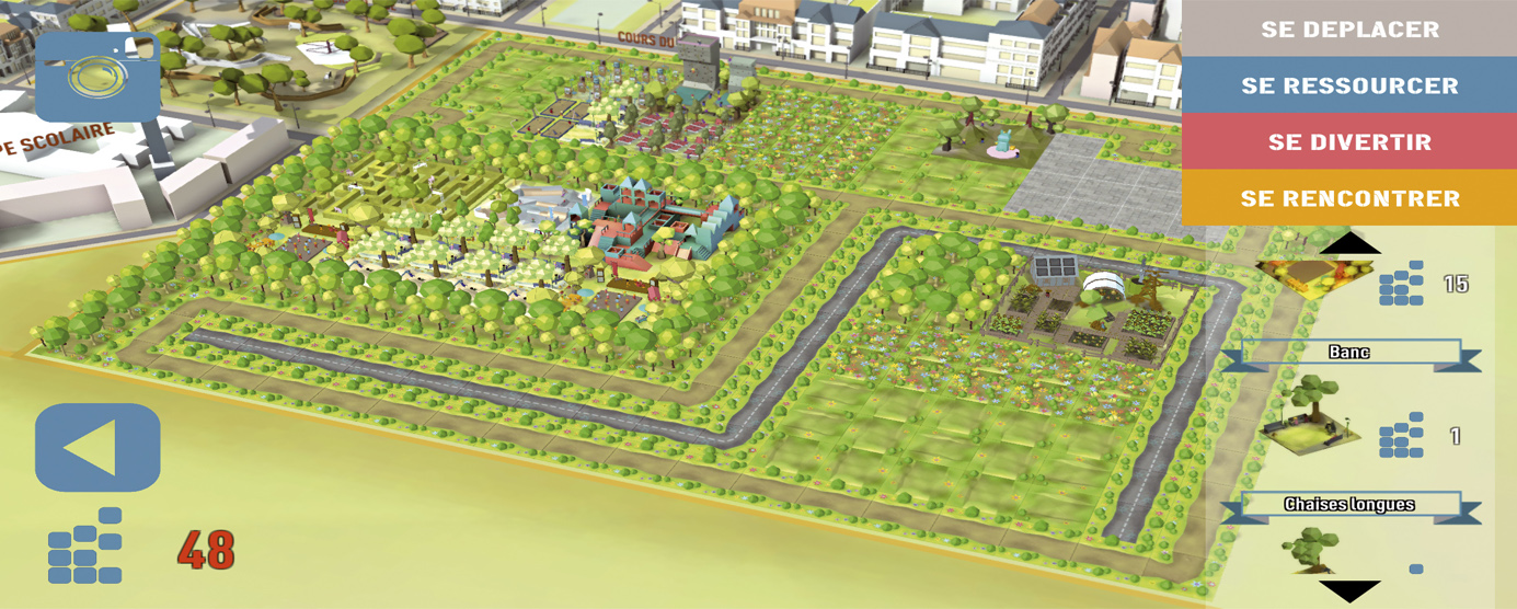 Modélisation de l'e-concertation à Serris : imaginer son parc