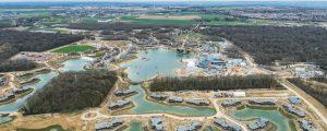 Vue aérienne du chantier de Village Nature Paris (Mars 2017)