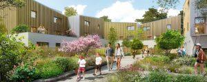 Modélisation de logements dans l'écoquartier Le Sycomore, programme de logements Liv'in Bussy (Lot SY4) - BBCA
