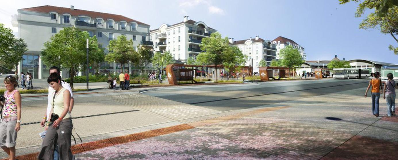 Bussy Saint-Georges - centre-ville : réaménagement du pôle gare