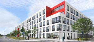 Modélisation de l'immeuble de bureaux Tannat à Montévrain