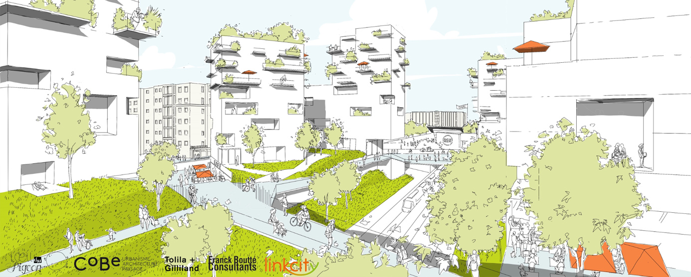 Croquis du projet intégrateur LINKCITY : lot B1 à Champs-sur-Marne