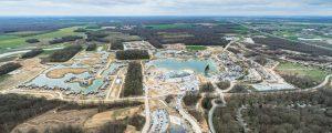 Vue aérienne du chantier ZAC Villages Nature Paris