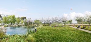 le futur parc du Sycomore, en continuité du parc du Génitoy