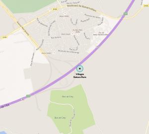 Carte Google Maps pour se rendre à Villages Nature Paris ?