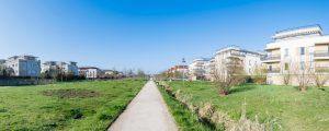 Présentation de quelques logements sociaux dans l'écoquartier de Montévrain, situés dans le Parc de Mont Evrin