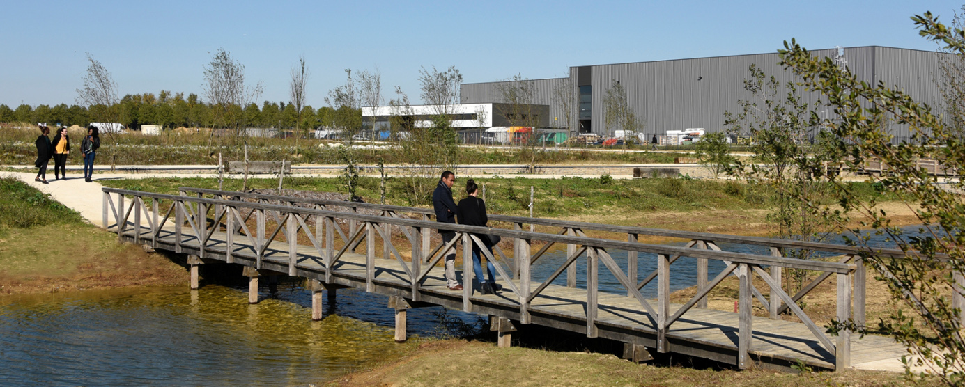 Abords de l'entreprise Fritec dans la ZAC du Couternois