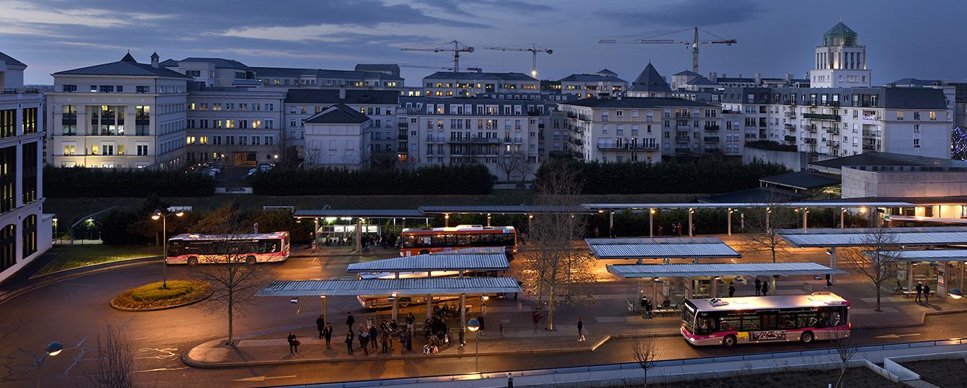 Centre urbain du Val d'Europe : Gare routière