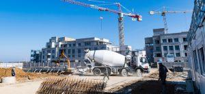 ZAC des studios et des congrès : chantier de logements Le Majestic à Chessy