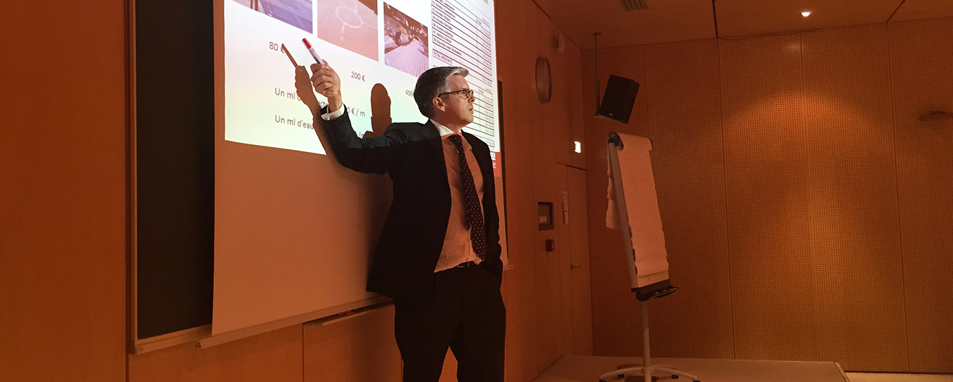 Intervention de Nicolas Ferrand, Directeur Général d'EPAMARNE/EPAFRANCE, a l'ENPC (Ecole Nationale des Ponts et Chaussées).