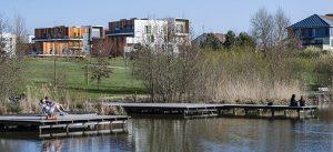 Parc du Génitoy dans le centre ville de Bussy Saint-Georges (Étang des grives)