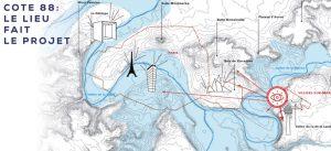 Schéma du projet Cote 88 entre Paris et Marne-la-Vallée