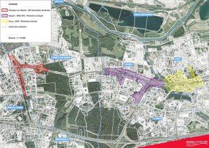 Plan aérien de l'autoroute de Val Maubuée (VPN, VPO)
