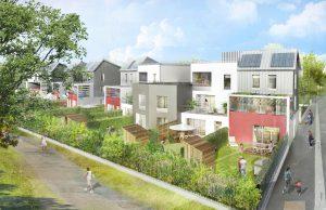 Modélisation du futur programme de logements - Résidence La Romaine (LOT F9) - dans l'écoquartier de Montévrain