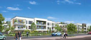 Modélisation de terrasse et de jardin d'un futur programme de logements (LOTS F7 - G7) prévus dans l'écoquartier de Montévrain