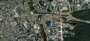 Carte aérienne du périmètre de la ZAC Hauts Nestlé (Cité Descartes)
