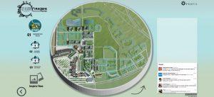Vue de l'application web Imaginez votre parc - Serris