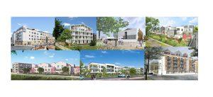 Sept photographies des futurs programmes de mise en chantier à Montévrain