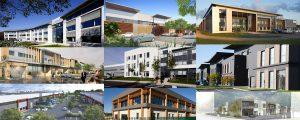 Montage de neuf photographies de bureaux sur Marne-la-Vallée