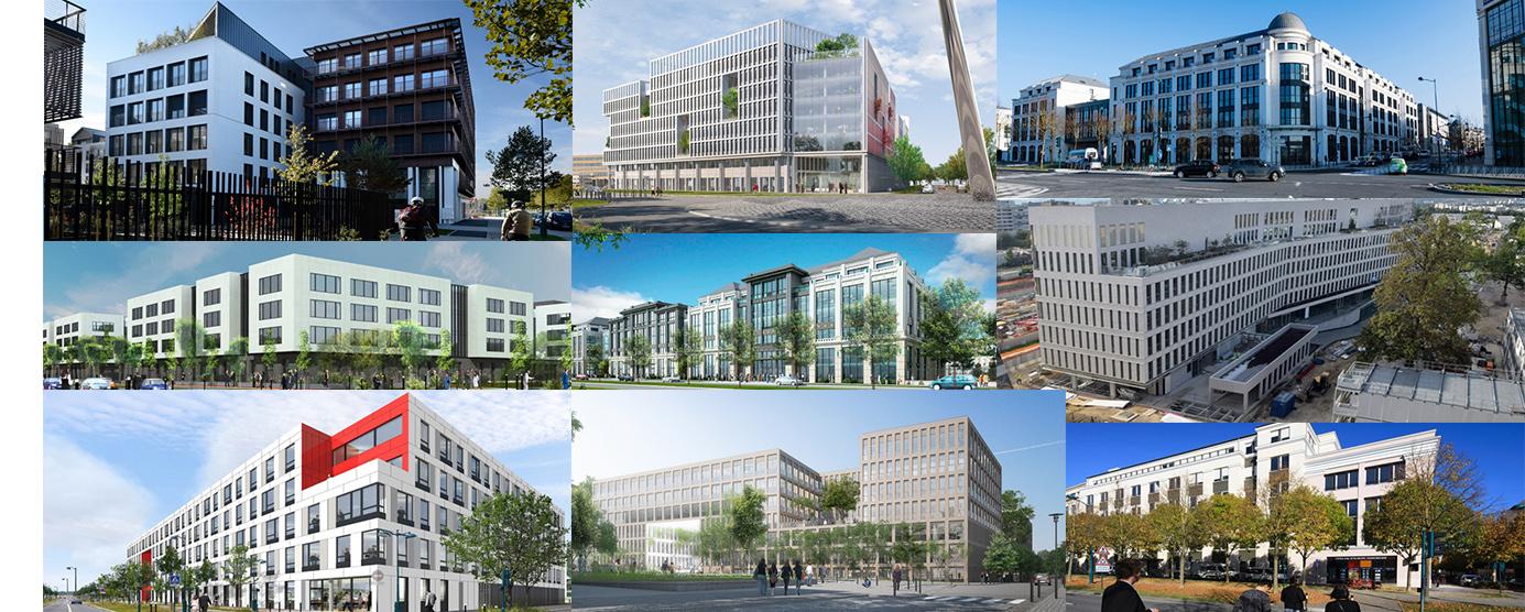 Photographie de neuf bâtiment de bureaux sur Marne-la-Vallée