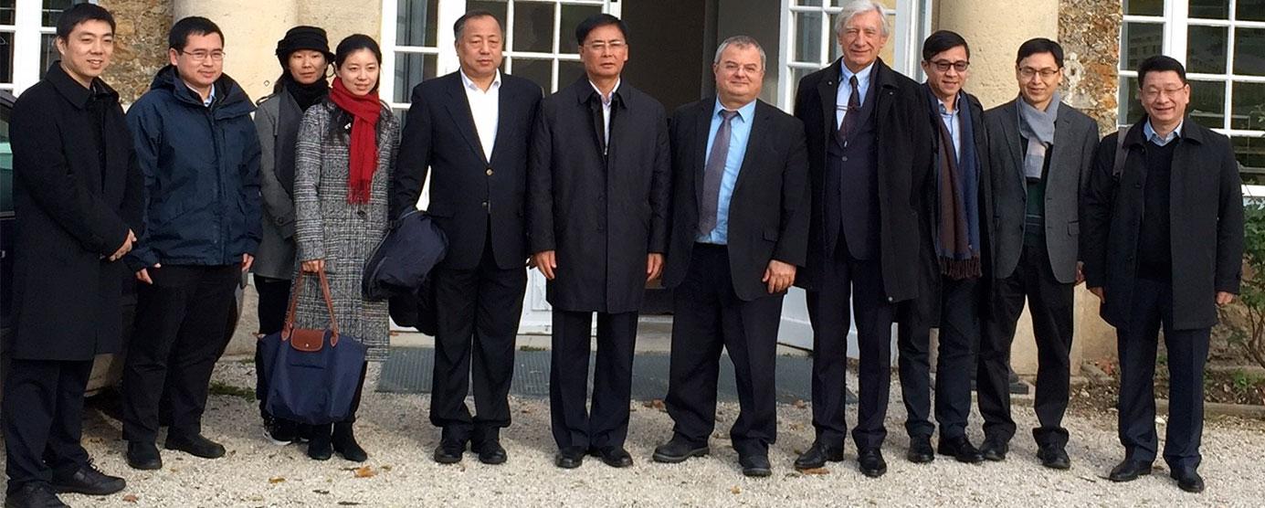 EPAMARNE reçoit une délégation chinoise de la ville de Shenzhen (siège social d'EPAMARNE/EPAFRANCE, à Noisiel)