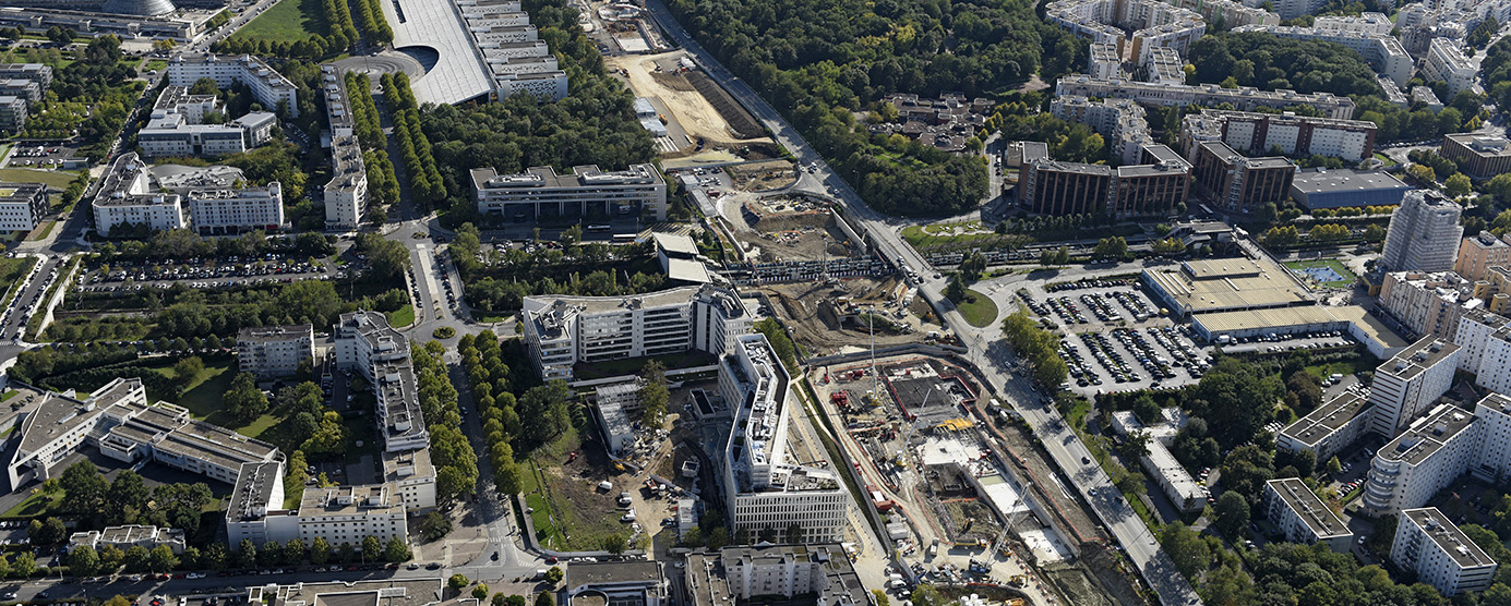 Vue aérienne : Noisy-le-Grand et Champs-sur-Marne (2015)