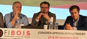 Prise de parole de personnalités représentants les entreprises présentes à la conférence Aprovalbois, dont Philippe Hermet, directeur de la Stratégie EPAMARNE/EPAFRANCE