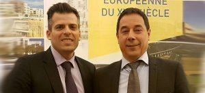 Photographie de Philippe Descrouet et de Jean-Baptiste Rey, au siège social d'EPAMARNE/EPAFRANCE à Noisiel