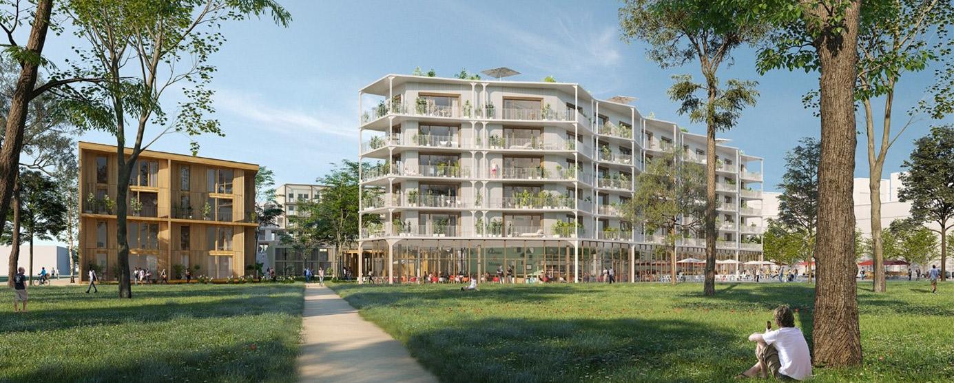 Modélisation de l'immeuble Vinci dans le quartier Le Sycomore, à Bussy Saint-Georges