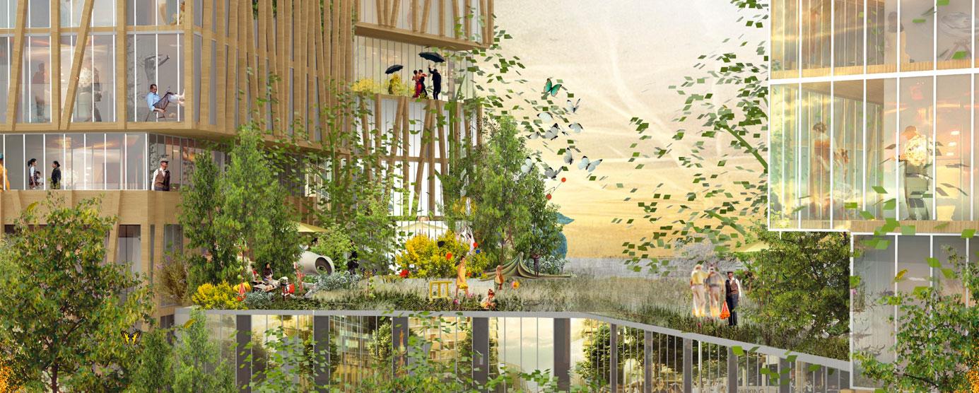 Modélisation du futur jardin partagé du Centre urbain de Marne Europe