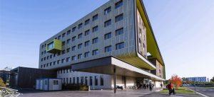 Photographie du bâtiment Coriolos, sur le campus de la Cité Descartes