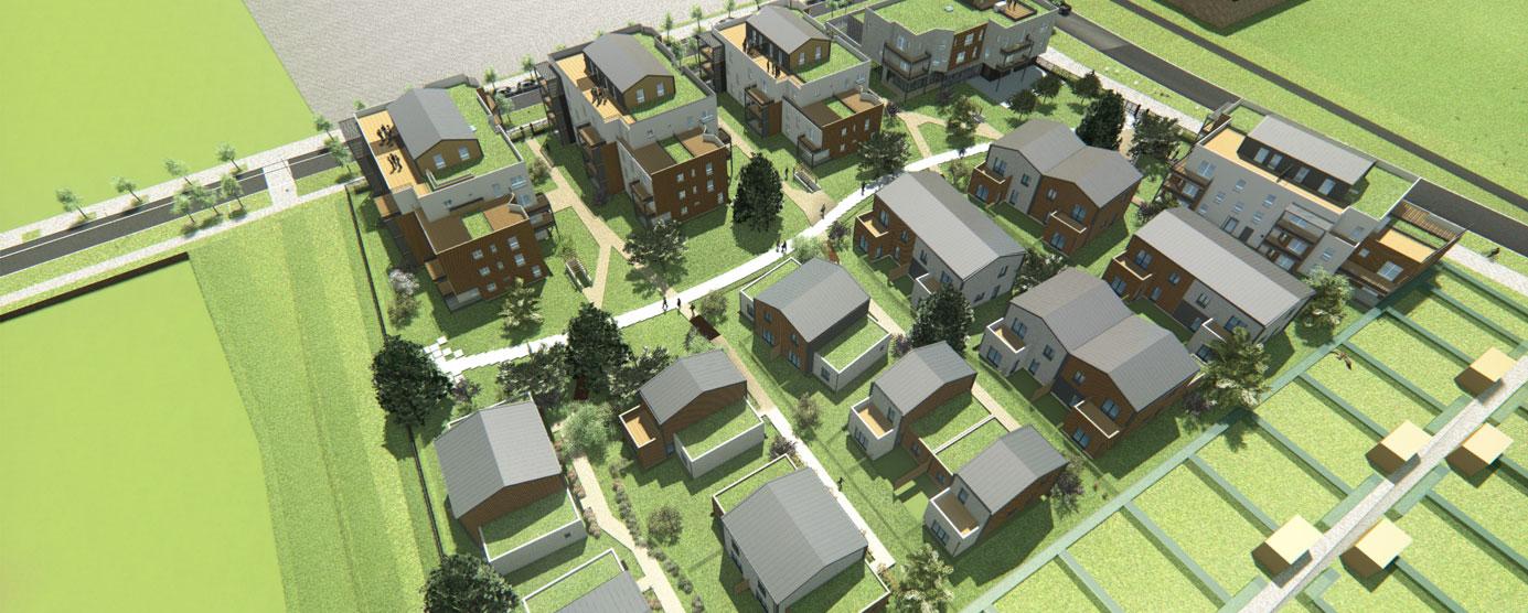 Modélisation du futur programme de logements Emmaüs situé dans l'écoquartier Le Sycomore à Bussy saint-Georges
